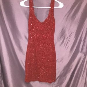 NWOT !! Red Sequined Dress